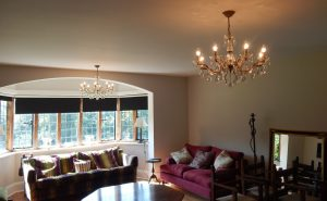 Bespoke lights from Darwin Lighting fitted in the living room.